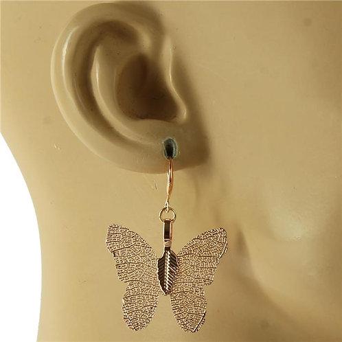 Intricate Butterfly Earrings (Rose Gold)
