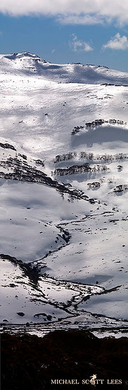 Snowy River with snow, Kosciuszko National Park, Australia. Fine Art Photography Prints for Sale by Michael Scott Lees photog