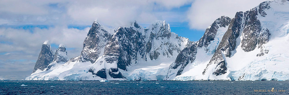 Cliffs at Lemaire Channel on the Antarctic Peninsula. Fine Art Photography Prints for Sale by Michael Scott Lees photographer