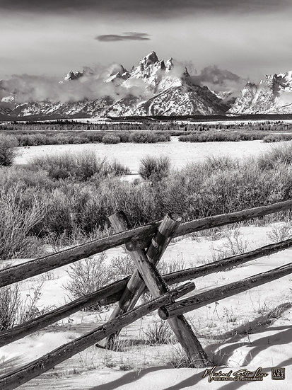 Cattle fence in the Grand Teton National Park in Wyoming, America. Michael Scott Lees fine art photographic prints for sale
