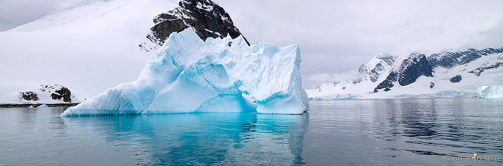 Iceberg in the Errera Channel in the South Shetland Islands, Antarctica. Fine Art Photography Prints for Sale