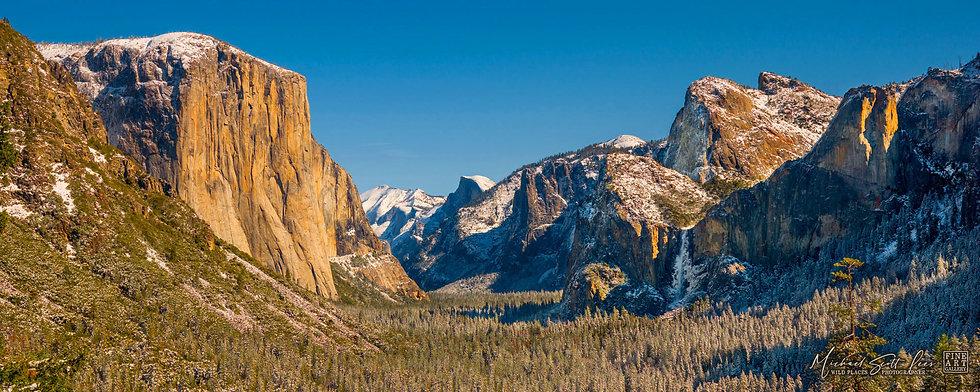 View of Yosemite valley, Yosemite National Park, California, America. Michael Scott Lees fine art photographic prints
