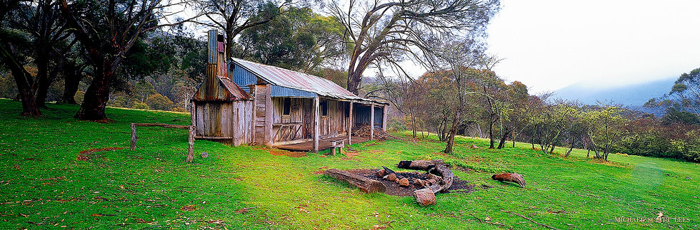 Oldfields Hut in Kosciuszko National Park, Australia. Fine Art Photography Prints for Sale by Michael Scott Lees photographer