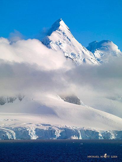 Majestic peak at the Antarctic Peninsula, Antarctica. Fine Art Photography Prints for Sale by Michael Scott Lees photographer