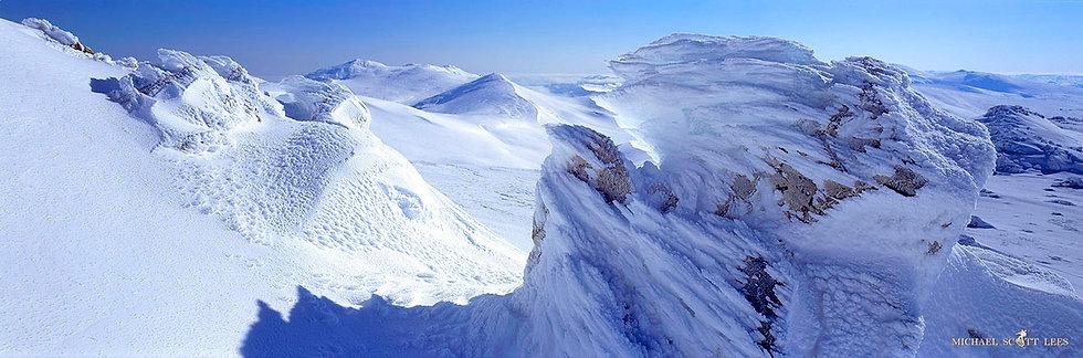 Ice coated rocks in snow on Etheridge Ridge, Kosciuszko National Park, Australia. Fine Art Photography Prints for Sale