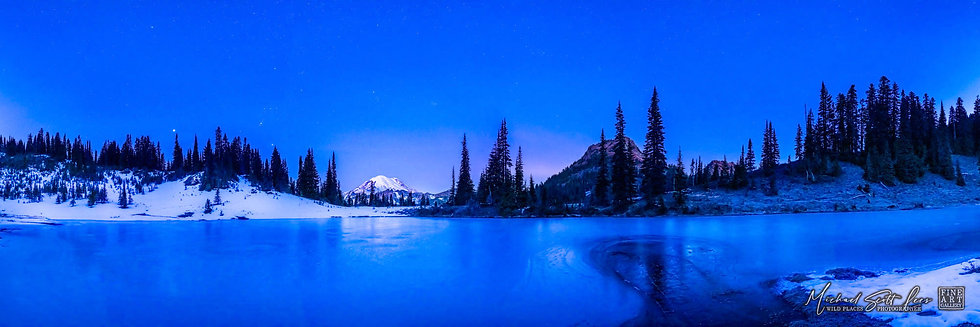 View of Mt Rainier in Mount Rainier National Park, Washington State, America. Michael Scott Lees fine art photographic prints