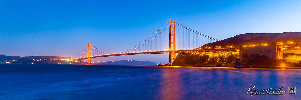 Golden Gate Bridge in San Francisco, America. Michael Scott Lees fine art photographic prints for sale
