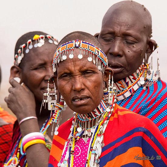 Maasai woman in their jewelry in Amboseli National Park in Kenya, Africa, Michael Scott Lees fine art photographic prints