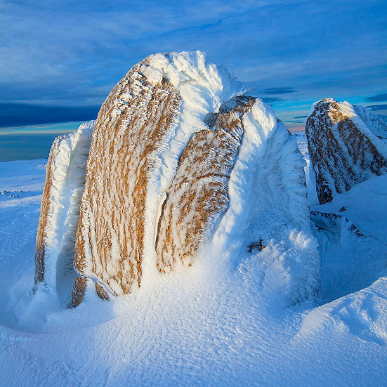 Rock coated in ice in Kosciuszko National Park, Australia. Fine Art Photography Prints for Sale by Michael Scott Lees photogr