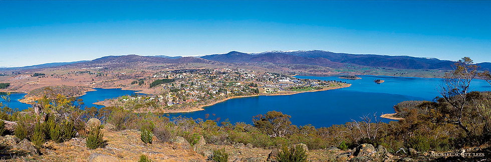 View of the town Jindabyne, Australia. Fine Art Photography Prints for Sale by Michael Scott Lees photographer.