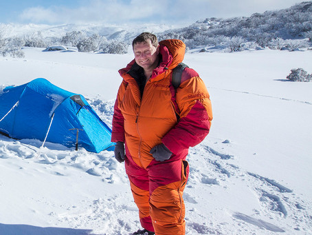 An 8000 metre suit in Kosciuszko National Park…   are you crazy!