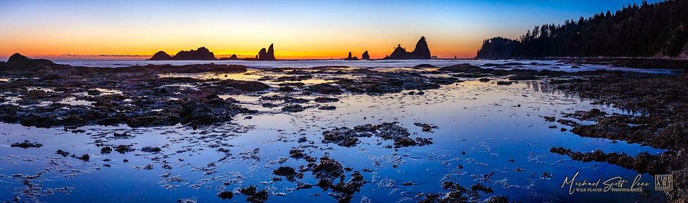 Rock platform near Rialto Beach in Olympic Coast National Park, Washington State, America. Michael Scott Lees fine art photo