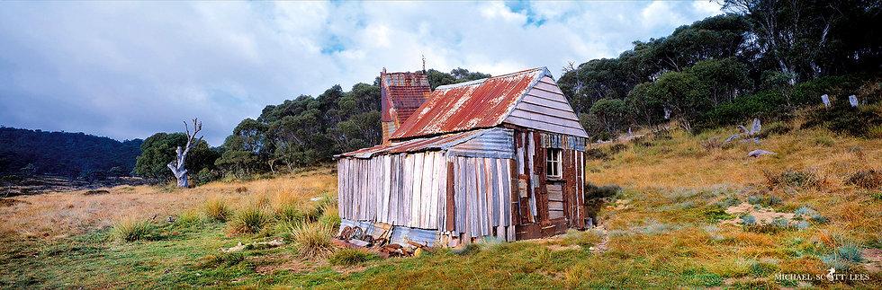 Four Mile Hut in Kosciuszko National Park, Australia. Fine Art Photography Prints for Sale by Michael Scott Lees photographer