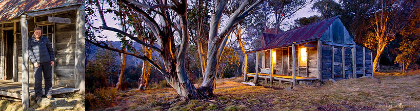 Michael Scott Lees Photographer at Wheelers Hut in the Kosciuszko National Park