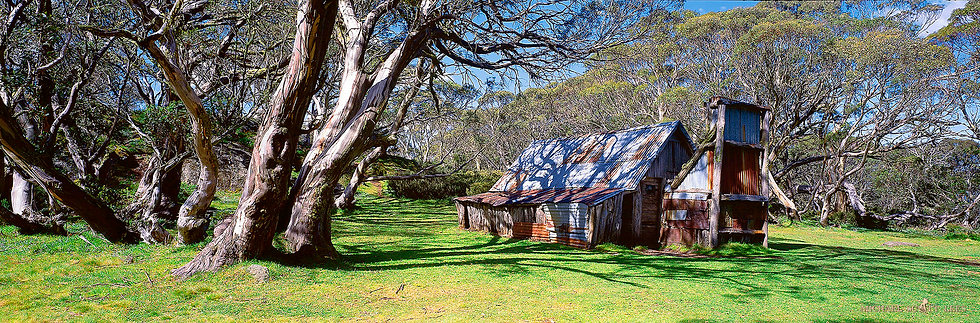 Wallace Hut in Alpine National Park, Australia. Fine Art Photography Prints for Sale by Michael Scott Lees photographer.