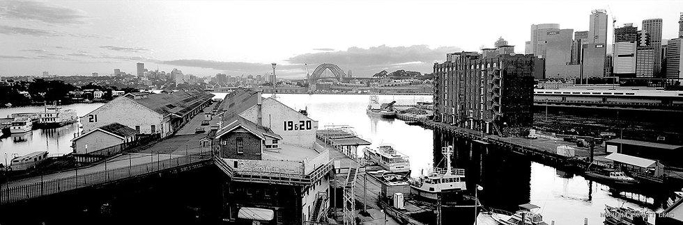 Pier 19 & 20 in Sydney Harbour, Australia. Fine Art Photography Prints for Sale by Michael Scott Lees photographer.
