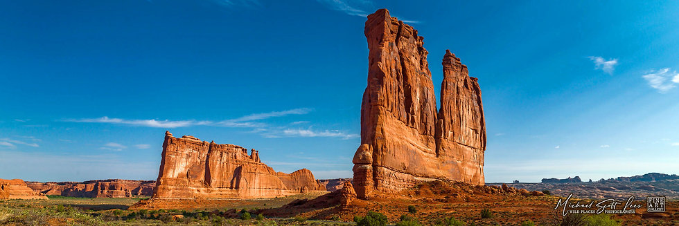 The Organ and Babel Towers in the Arches National Park, America. Michael Scott Lees fine art photographic prints for sale