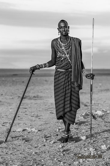 Masai tribesman in Amboseli National Park, Michael Scott Lees fine art photographic prints for sale