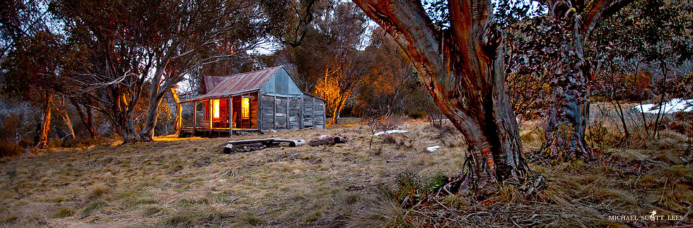 Wheelers hut in Kosciuszko National Park, Australia. Fine Art Photography Prints for Sale by Michael Scott Lees photographer.