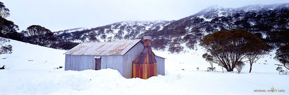 Whites River Hut in Kosciuszko National Park, Australia. Fine Art Photography Prints for Sale by Michael Scott Lees photo