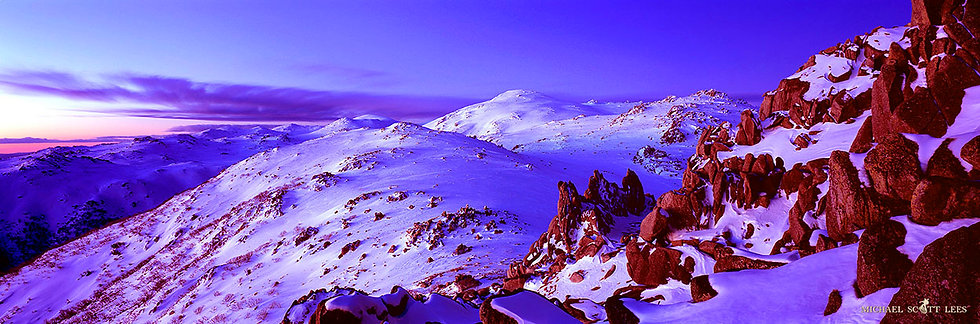 Rocks in the Snow in Kosciuszko National Park, Australia. Fine Art Photography Prints for Sale by Michael Scott Lees photo