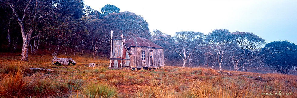 Witsis Hut in Kosciuszko National Park, Australia. Fine Art Photography Prints for Sale by Michael Scott Lees photographer.
