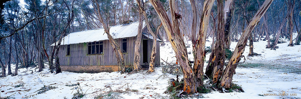 Pryers Hut in Namadgi National Park, Australia. Fine Art Photography Prints for Sale by Michael Scott Lees photographer.