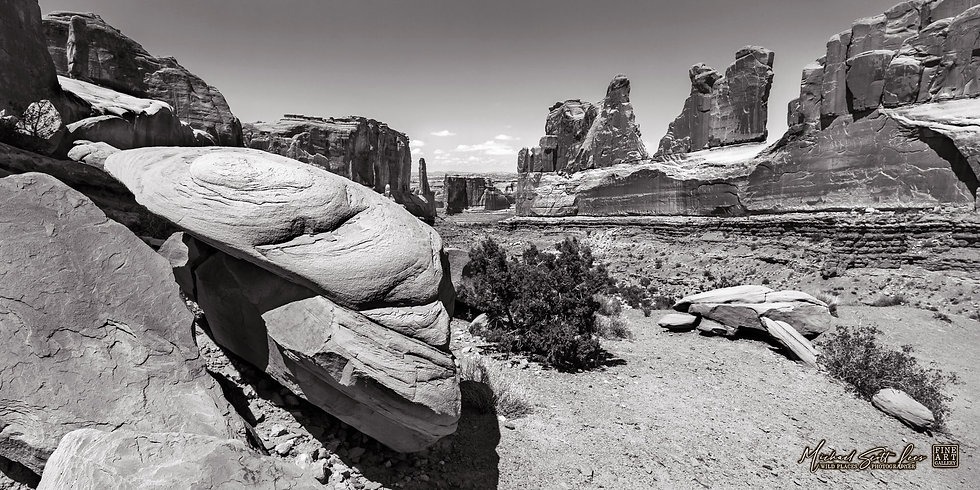 Park Avenue view in the Arches National Park, America. Michael Scott Lees fine art photographic prints for sale