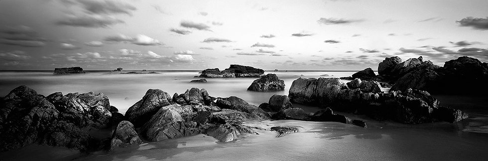 Black and white image of beach at Port Macquarie, Australia. Fine Art Photography Prints for Sale by Michael Scott Lees photo