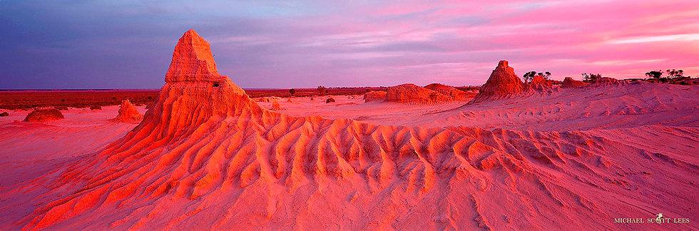 Eroded landscape at Mungo National Park, Australia. Fine Art Photography Prints for Sale by Michael Scott Lees photographer.