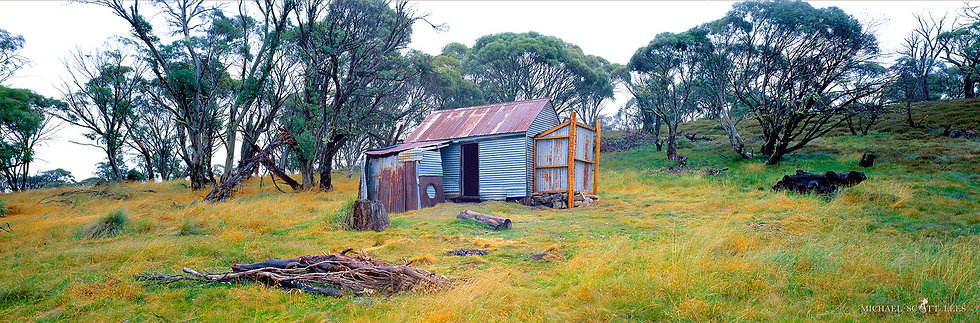 Happys Hut in Kosciuszko National Park, Australia. Fine Art Photography Prints for Sale by Michael Scott Lees photographer.