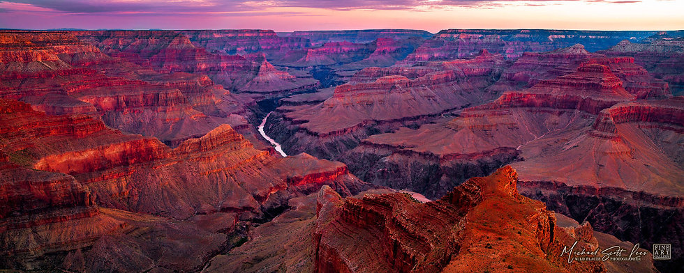 View of the Grand Canyon in Arizona, America. Michael Scott Lees fine art photographic prints for sale
