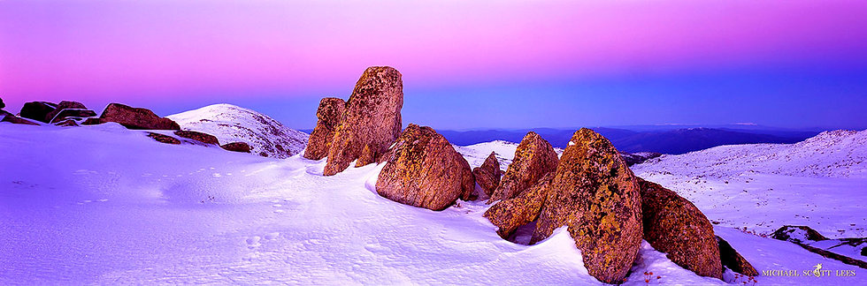 View to Mt Kosciuszko from Muellers Peak, Kosciuszko National Park, Australia. Fine Art Photography Prints for Sale