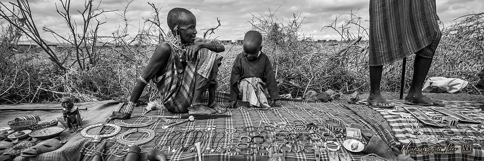 Masai markets in Amboseli National Park, Michael Scott Lees fine art photographic prints for sale