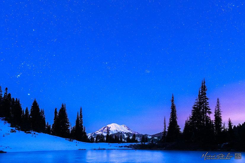 View of Mt Rainier in Mount Rainier National Park, Washington State, America. Michael Scott Lees fine art photographic prints