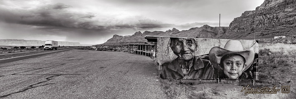Store billboard near the Grand Canyon in Arizona, America. Michael Scott Lees fine art photographic prints for sale