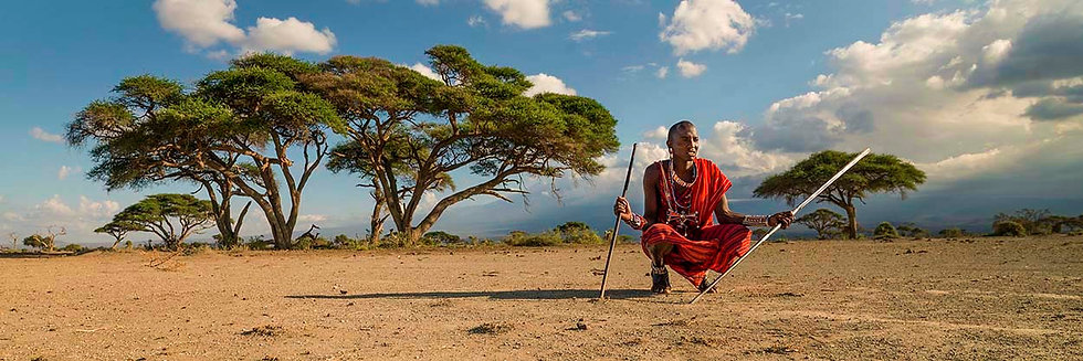 Masaii Tribesman, Amboseli National Park, Kenya, Africa. Fine Art Photography Prints for Sale by Michael Scott Lees photo