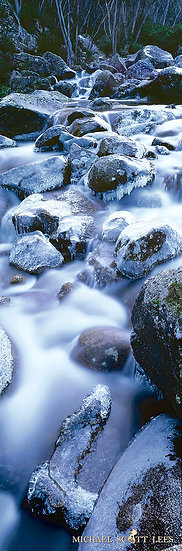 Ice covered rocks on the Munyang river in Kosciuszko National Park, Australia. Fine Art Photography Prints for Sale