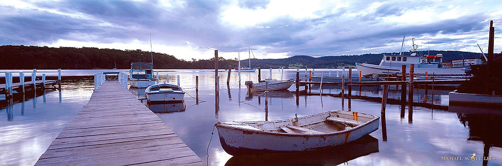 Boats and wharfs at Narooma, Australia. Fine Art Photography Prints for Sale by Michael Scott Lees photographer.
