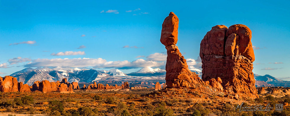 Balanced Rock in the Arches National Park, America. Michael Scott Lees fine art photographic prints for sale