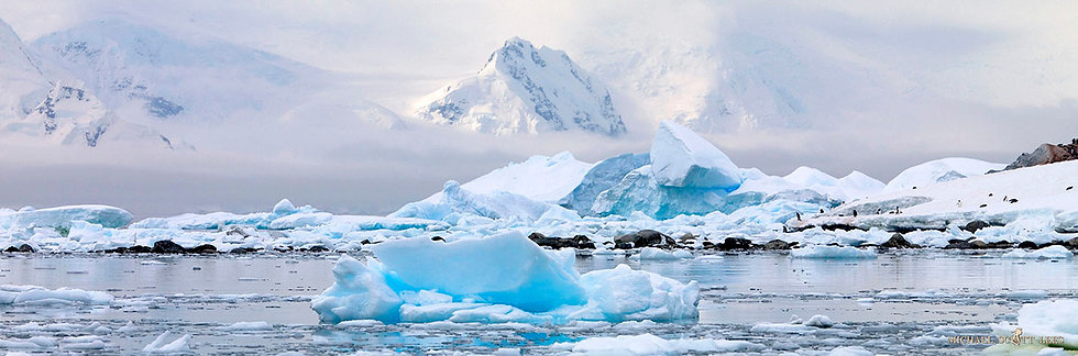 Errera Channel in the South Shetland Islands, Antarctica. Fine Art Photography Prints for Sale by Michael Scott Lees photo