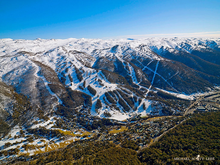 Thredbo Resort in Kosciuszko National Park, Australia. Fine Art Photography Prints for Sale by Michael Scott Lees photographe