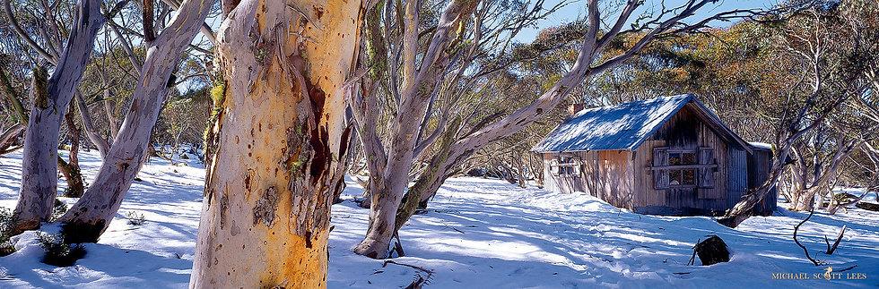 Dinner Plain Hut in Alpine National Park, Australia. Fine Art Photography Prints for Sale by Michael Scott Lees photographer.