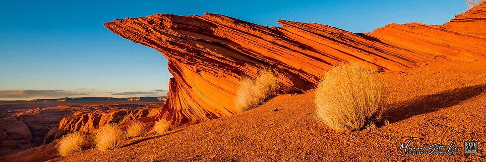 The rim of Horseshoe Bend in Arizona, America. Michael Scott Lees fine art photographic prints for sale