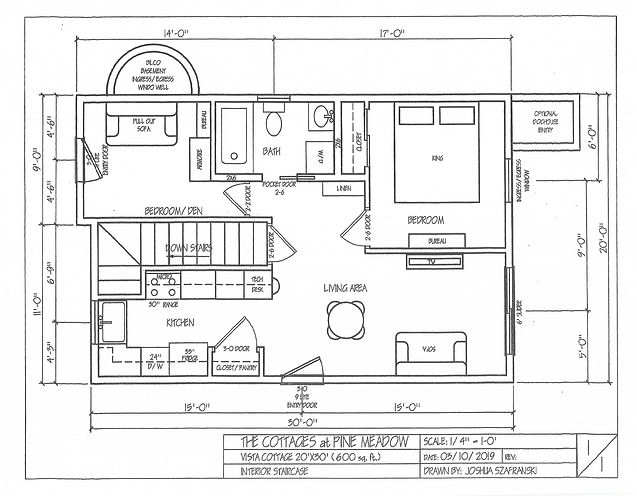 Floor Plan 2B - 2 BR, 612 sq ft, opt lof