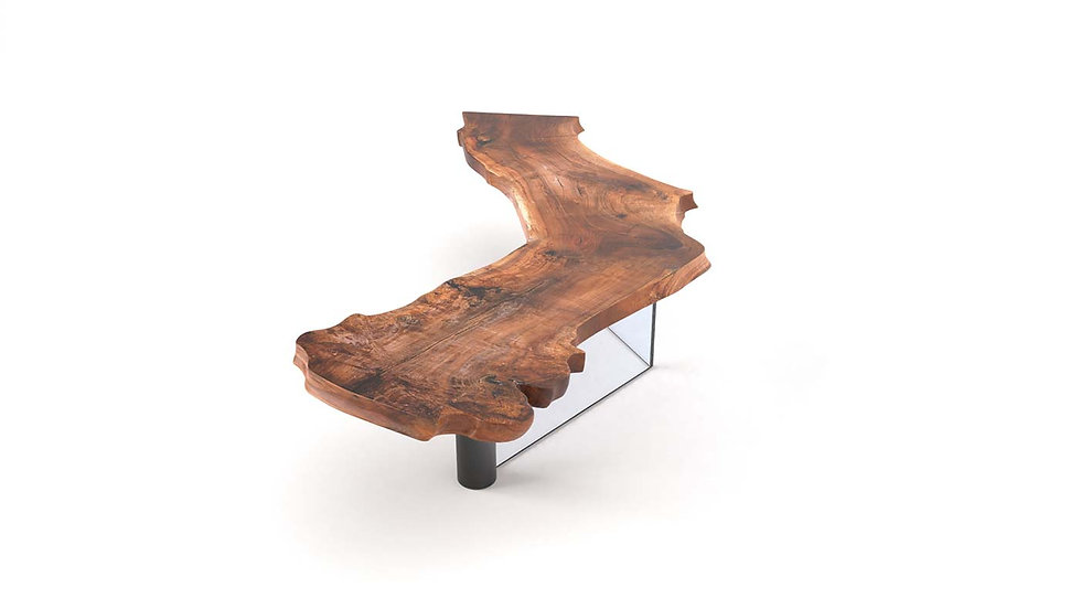 Live edge conference table, fine dining table, wood slab table, modern wooden table, Meraki Woods