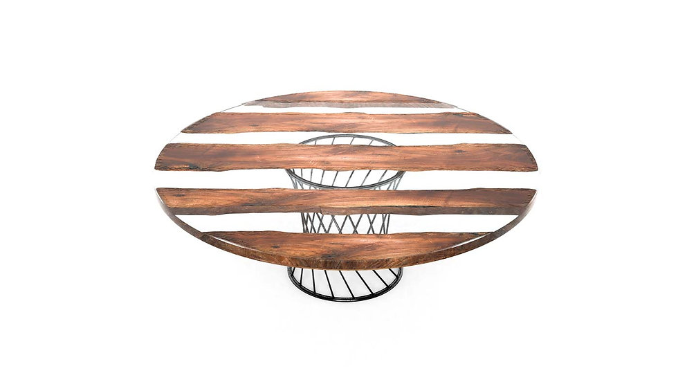 Live edge conference table, fine dining table, wood slab table, modern wooden table, round dining table, Meraki Woods