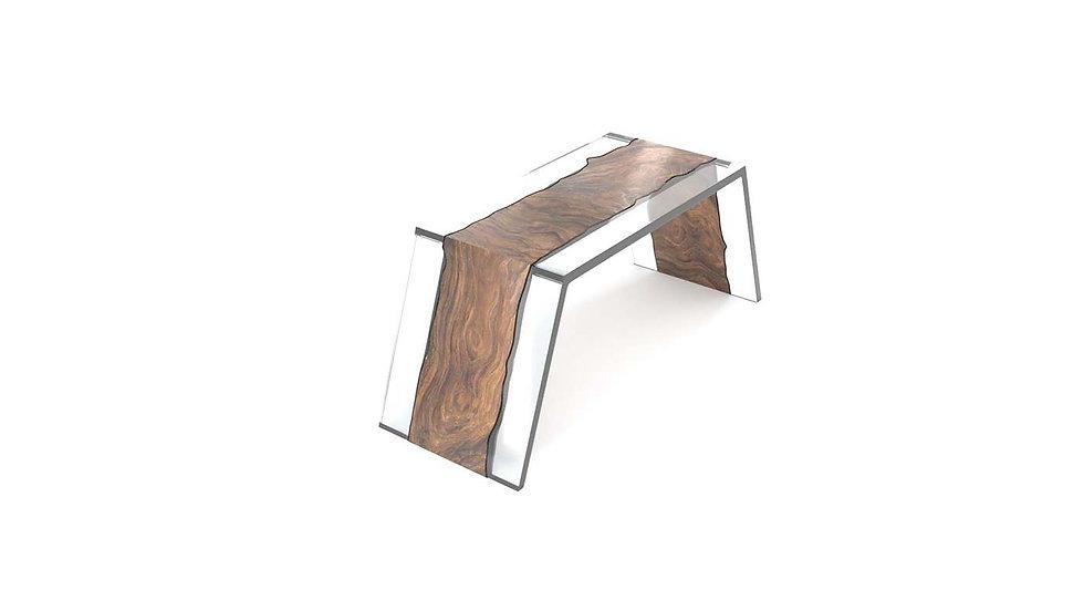 Live edge office table, fine office table, wood slab modern table, Meraki Woods