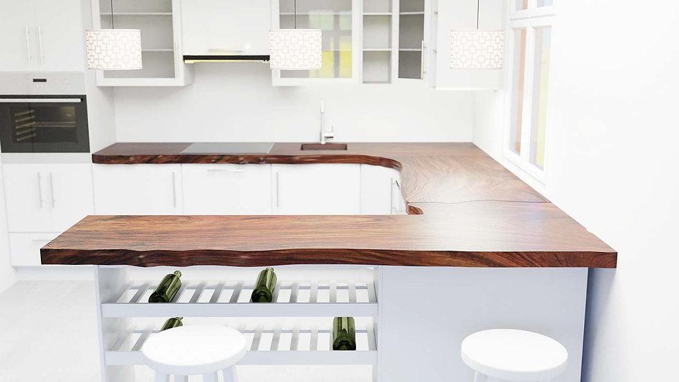 countertops, kitchen furniture, kitchen, live edge countertop, wood slab countertops, reclaimed wood countertop, Meraki Woods