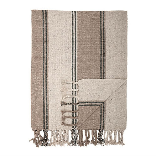 Recycled Cotton Woven Throw